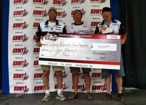 KWRT 2014 Winners: Jamie Robinson (left) and Terry Bernath (far right).